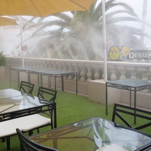 Nebulización profesional terraza hotel